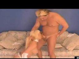 Long Legs Busty Blonde Rides Dick