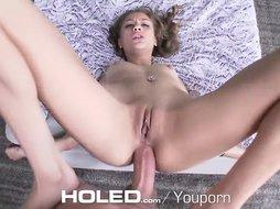 HOLED Rebel Lynn stretched asshole fucked by big dick outdoors