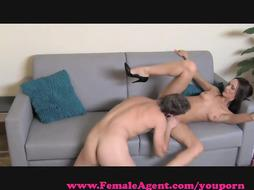 FemaleAgent. COUGAR exploits bashful man in audition