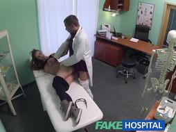 FakeHospital Therapist creampies super hot muscly college girl with epic bod