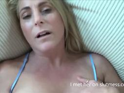 Blondie Cougar Suck Off and Pulverize (Homemade, POINT OF VIEW)