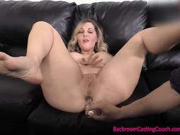Gigantic Jugs COUGAR Anal Invasion on Audition Sofa