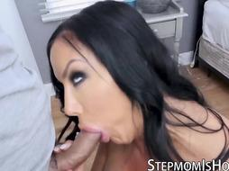 STEPMOTHER IS MISCHIEVOUS - Meaty Bosoms COUGAR Sybil Stallone Stretches Her Gams for Ample Pecker