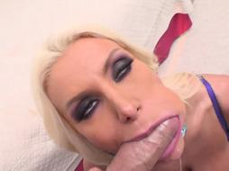 Brittany Andrews is a stunning, blondie cougar with giant funbags who enjoys to have harsh assfucking intercourse
