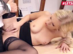 Lena Nitro is a jiggish ash-blonde wood cocksucker, who luvs to have orgy with her manager