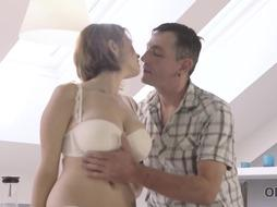 Uber-Cute honey is drilling her landlord, every once in a while, to pay the rent