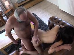 Insatiable, older dude was caught jacking, so his mischievous step- stepdaughter gave him a grubby dt