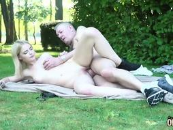 Lusty ash-blonde teenage has hooked up with a grandfather from the vicinity, just to get pummeled