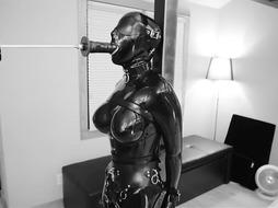 Marvelous SADISM & MASOCHISM Spandex Damsel's Silenced Wails as she while Gargling A Massive Fuck Stick