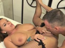 Kinky damsel in softcore, ebony stocking is about toget plumbed, instead of doing her job