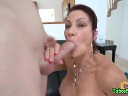 Astonishing brown-haired with a ample, plump bootie is having casual bang-out with a junior dude