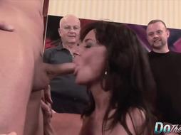 Mature gals are gargling penises mostly while getting down on all fours on the floor, and making folks jizm
