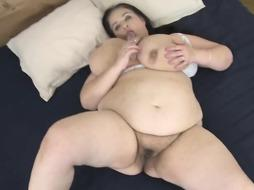 Stefanka is a meaty boobed dark haired who loves to have fun with a ginormous, ebony fuck stick