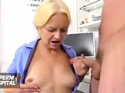 Promiscuous, ash-blonde nurse, Marketa is working in a local medical center and toying with various rock hard bones