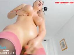Good-Sized bum ash-blonde nymph is splattering while nutting and attempting not to squeal too noisy