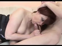 Torrid Mother Fellates Sons-In-Law Fuckpole
