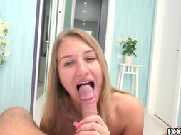 Milena Blanc is so great when it comes to providing footjobs to folks, before getting plumbed