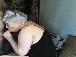 Spunky light-haired bbw with immense mammories is opening up up and getting banged firmer than ever before