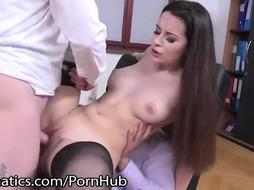 Russian office woman is always well-prepped for a three way with her co- employees and an ejaculation