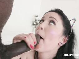 Isabel Diamond is a wood lovin' dark-haired who can't hold back when she watches a dark-hued fellow