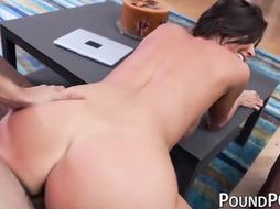 Bouncy backside COUGAR Alexis Fawx stuffed after deepthroating in POINT OF VIEW
