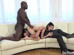 Puny Wifey Lina Arian Crams Her Cock-Squeezing Crevasses with a BIG BLACK COCK While Cheating Gobbles