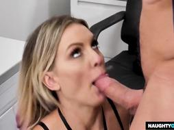 Astonishing blond physician, Kenzie enjoys to have intercourse at work, while no one is witnessing her