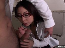 Chinese scientist, Minami Kitagawa enjoys to deepthroat spear and get boinked even in her office