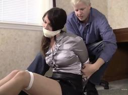 Spectacular office chick enjoys to get bound up because it arouses her more than anything else