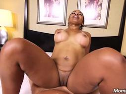 Assfuck Screwing Giant Bum Good-Sized Mounds Dark-Hued Cougar POINT OF VIEW