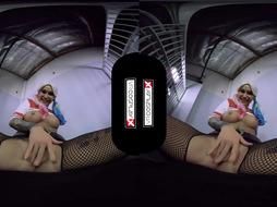 VR Costume Play X Tear Up Kleio Valentien As Harley Quinn VR Porno
