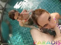 Paradise Girlfriends - Twins get smashed together in pool while on vaca