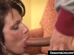 Mature Housewife Deauxma Jets Her Splooge When Porked In Caboose!