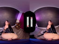 VRCosplayX.com X-STUDS GONZO: PSYLOCKE Reads Your Fantasy To Pummel Her