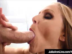 Fantastic Cougar Julia Ann Strokes A Rock Hard Sausage Dry POINT OF VIEW!