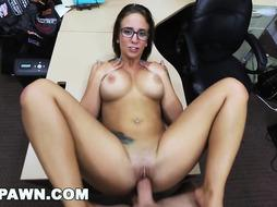 HARDCORE PAWN - Lusty Latina Layla London Getting Pummeled In A Pawn Store
