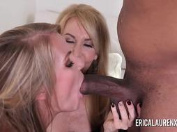 Erica Lauren and her daughter share a BIG BLACK COCK