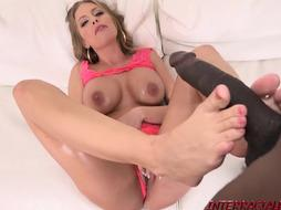 Britney Amber stuffed by good-sized dark-hued man-meat doggy-style