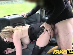 Faux Cab Donk butt-plug %26 man rod open up red-hot honey Valerie Fox booty on backseat