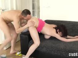 Splendid nubile with thick jugs nailed rock-hard