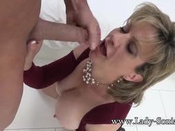 Girl Sonia Mature Bi-Atch Greased Up And Deepthroating Trouser Snake