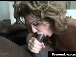 Super-Naughty Milf Deauxma Poked By Monstrous Ebony Repoman Manmeat!