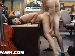 HARD-CORE PAWN - Mexican Cello Player Veronica Lemos Sells Her Figure At A Pawn Store