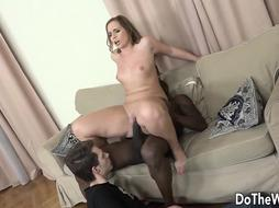 Cheating Spouse Impatiently Helps Wifey Chrissy Kinks Pound a BIG BLACK COCK and Get Rectal