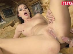 Epic Russian gal, Ani Dark-Hued Fox loves the way her paramour is boning her taut bootie fuck hole