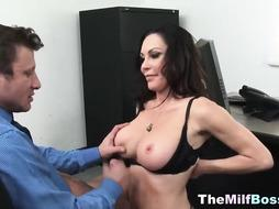 Office Hard-Core Fuckfest With Super-Steamy COUGAR Chief