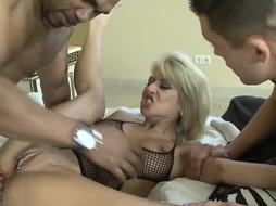 Cathy High is a big-boobed blondie whore, who can't stop cuckolding her playmate, because it senses great