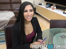PropertySex - Torrid agent cheats on her bf and pounds customer