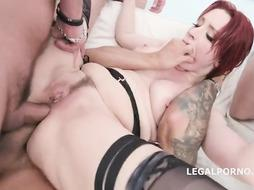 Violet Monroe loves to have intercourse with many ultra-kinky men at the same time, until she ejaculates