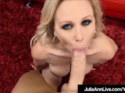 Blue Witnessed Cougar Julia Ann Masturbates %26 Bj's Your Stiffy Off!